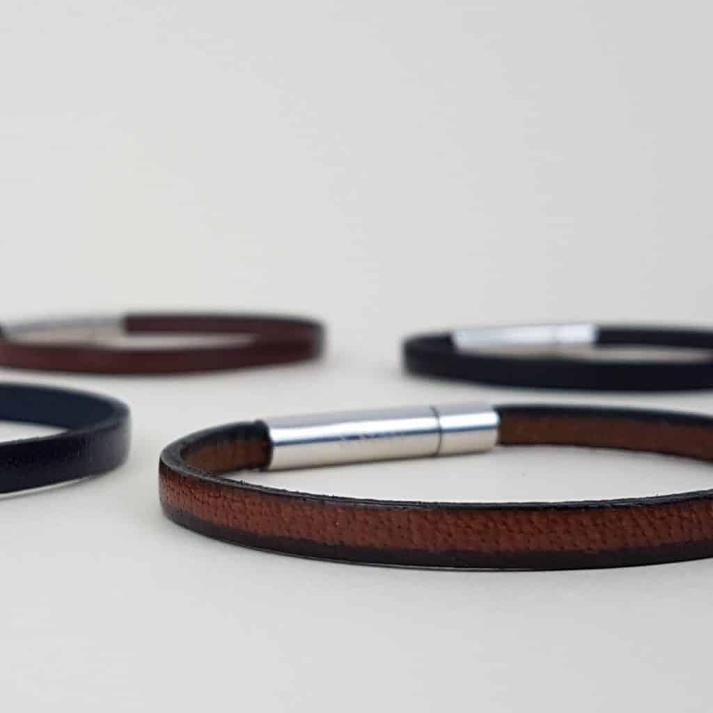 bracelet cuir noir personnalisable