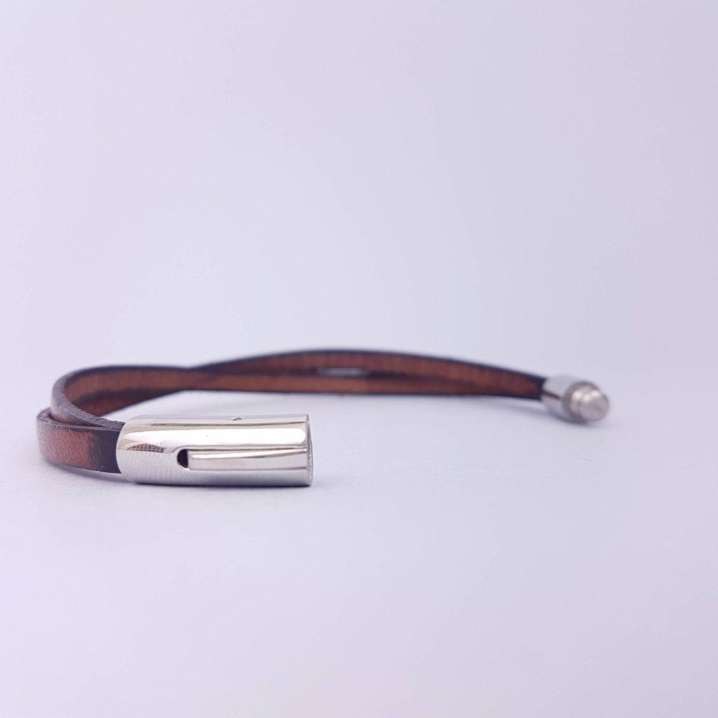 bracelet cuir acier homme a graver